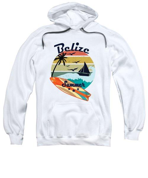 Retro Vintage Belize Gift Summer Vacation  Sweatshirt