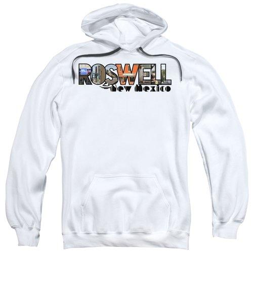 Roswell New Mexico Big Letter Travel Souvenir Sweatshirt