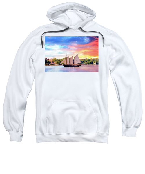 Sails In The Wind At Sunset On The York River Sweatshirt
