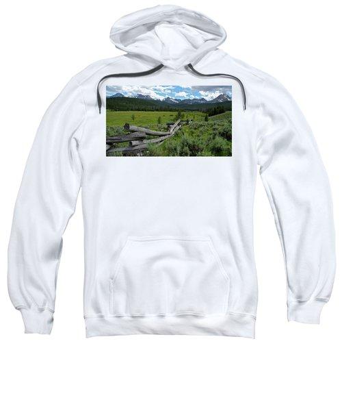 Sawtooth Range And 1975 Pole Fence Sweatshirt
