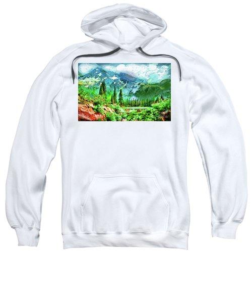 Scenic Mountain Lake Sweatshirt