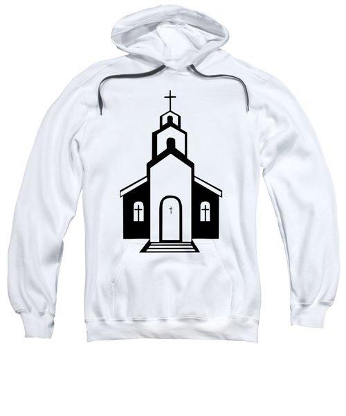 Silhouette Of A Christian Church Sweatshirt