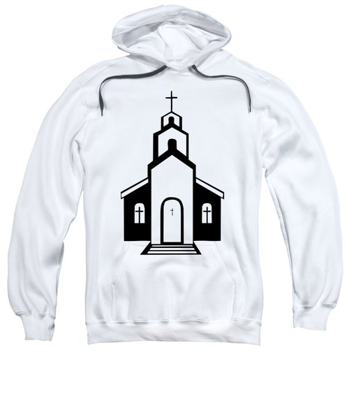 Silhouette Of A Christian Church Sweatshirt
