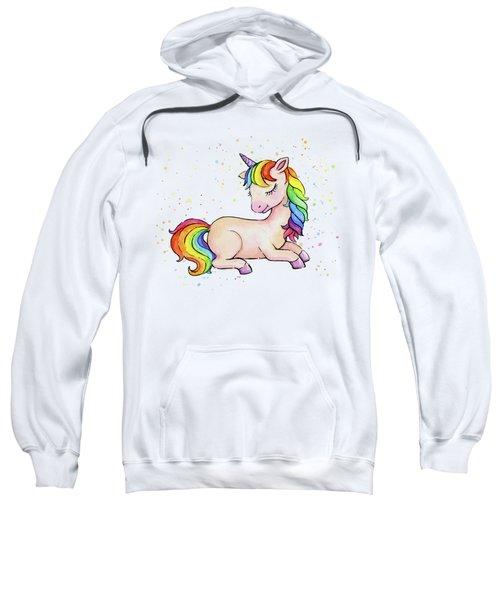 Sleeping Baby Rainbow Unicorn Sweatshirt