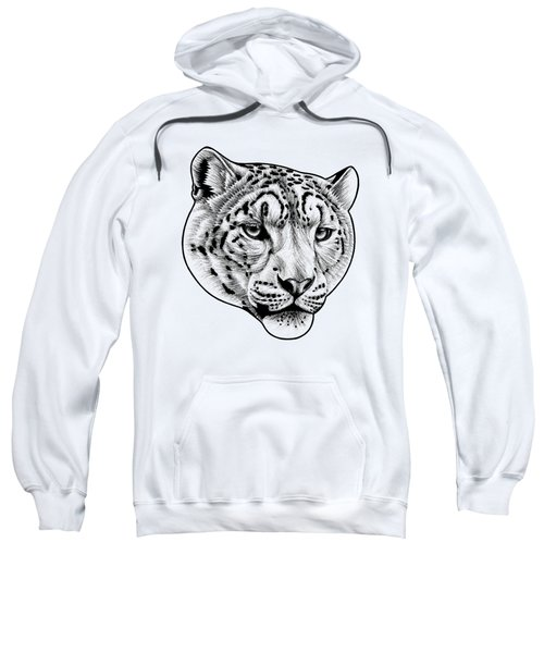 Snow Leopard - Ink Illustration Sweatshirt