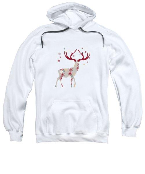 Snowflake Christmas Stag I Sweatshirt
