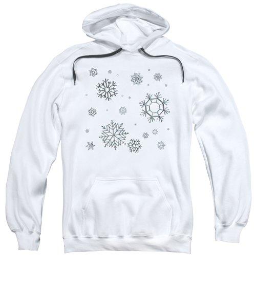 Snowflakes On Blue Sweatshirt