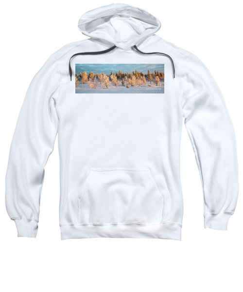 Snowy Trees Winter Panorama Sweatshirt