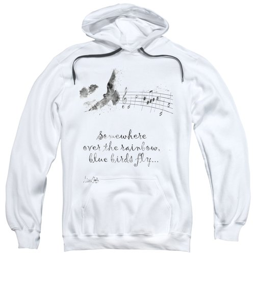 Somewhere Over The Rainbow In Black And White Sweatshirt