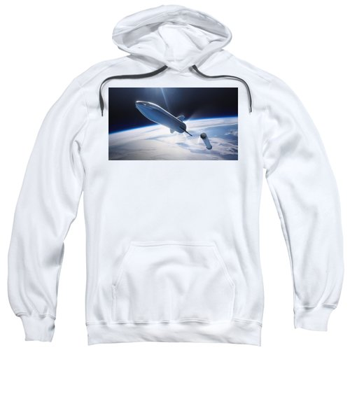 Spacex Bfr Leaving Earth Sweatshirt