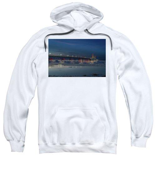 Spring Evening At The Mackinac Bridge Sweatshirt