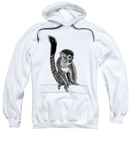 Squirrel Monkey - Ink Illustration Sweatshirt