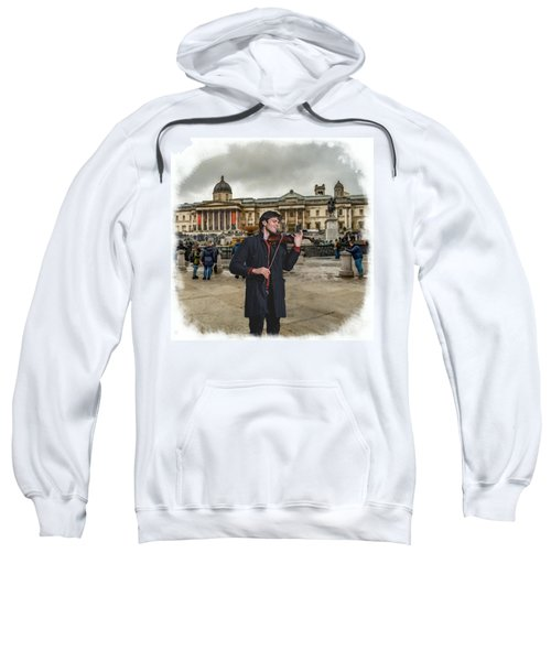Street Music. Violin. Trafalgar Square. Sweatshirt