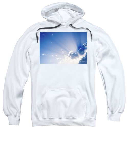 Sunbeams Rising From A Large Cloud In Intense Blue Sky On A Summer Afternoon Sweatshirt