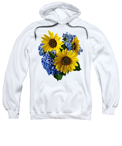 Sunflowers And Hydrangeas Sweatshirt