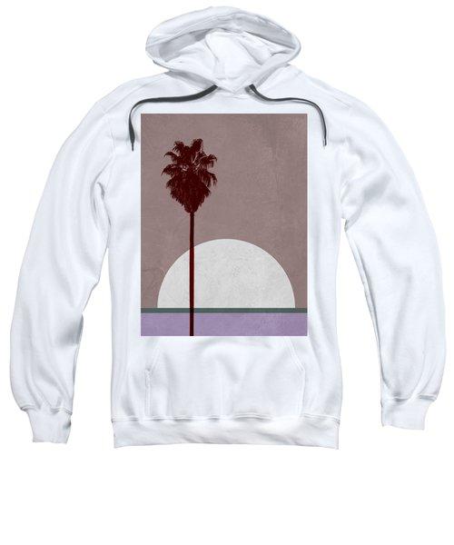 Sunset And Beach Palm Tree  Sweatshirt
