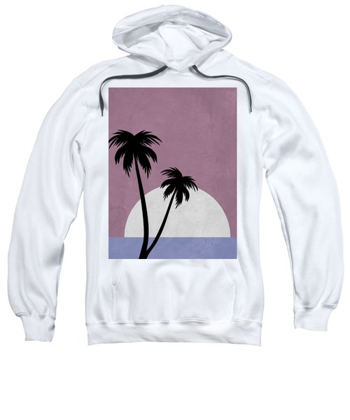 Sunset And Beach Palm Trees Sweatshirt