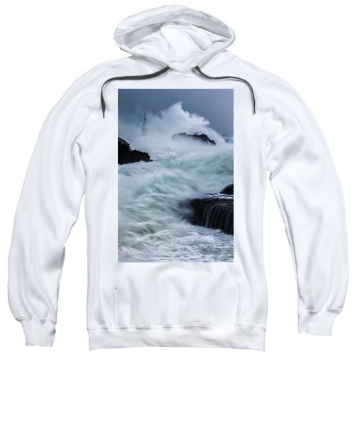 Sweatshirt featuring the photograph Swallowed By The Sea by Evgeni Dinev