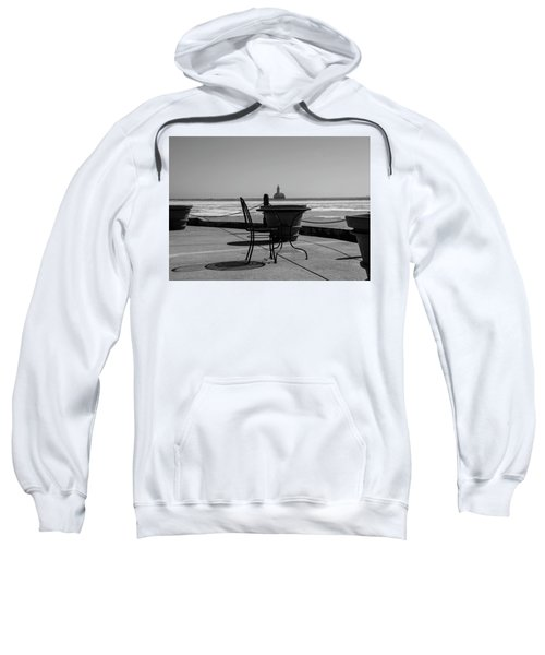 Table For One Bw Sweatshirt
