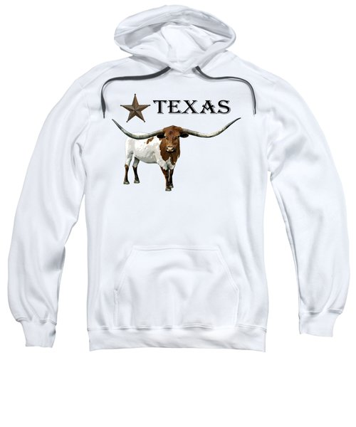 Texas Lone Star And Longhorn Steer - T-shirt Sweatshirt