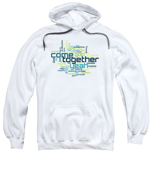 The Beatles - Come Together Lyrical Cloud Sweatshirt