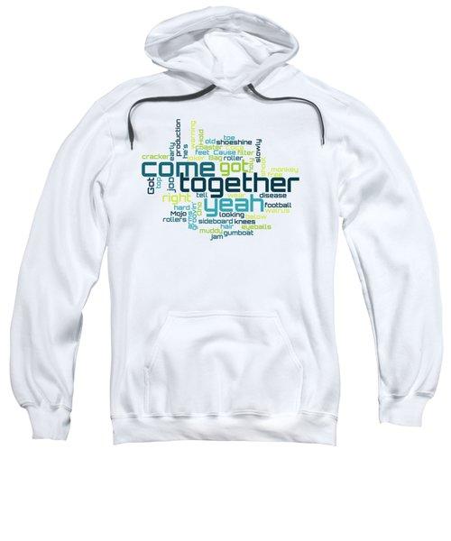 The Beatles - Come Together Lyrical Cloud Sweatshirt
