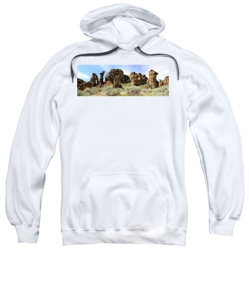 Arches Hoodoos And Castles The Big Picture Little City Of Rocks Sweatshirt