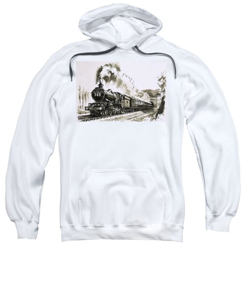 The Famous 4-6-0 Castle Class Of Steam Locomotives Used By Great Western Sweatshirt