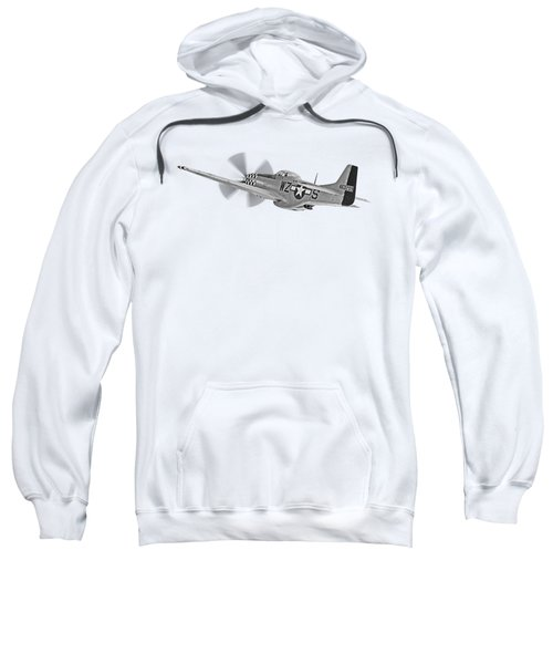 The Mission - P51 Over Dover In Black And White Sweatshirt