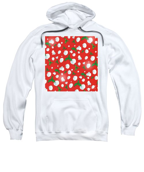 the real Italian pizza pattern background.  Sweatshirt