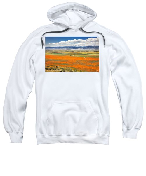 Sweatshirt featuring the photograph The Road Through The Poppies 2 by Endre Balogh