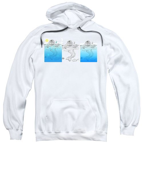 Three Mermaids All In A Row Sweatshirt