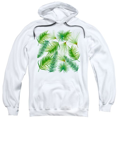 Tropical Leaves And Ferns Sweatshirt