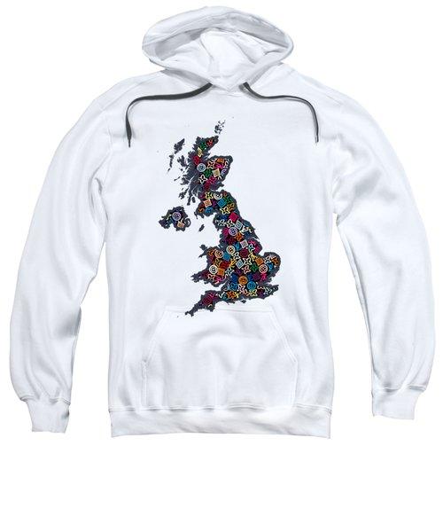 United Kingdom Map-1 Sweatshirt