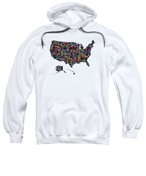 United States Map-1 Sweatshirt