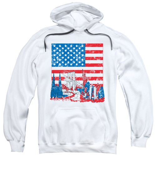 Usa New York  Vintage Design Sweatshirt