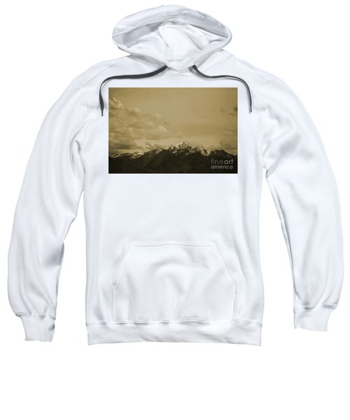 Utah Mountain In Sepia Sweatshirt
