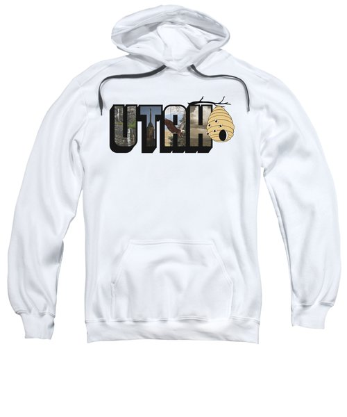 Utah The Beehive State Big Letter Sweatshirt