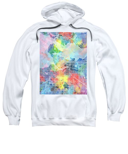 Vancouver Map Watercolor Sweatshirt