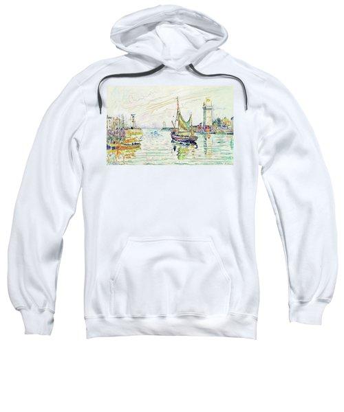 View Of Les Sables D'olonne - Digital Remastered Edition Sweatshirt