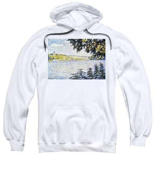 View Of The Seine At Herblay - Digital Remastered Edition Sweatshirt