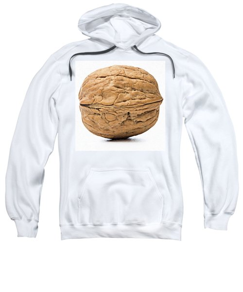 Walnut White Background Sweatshirt