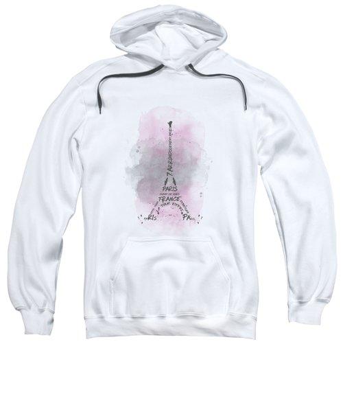Watercolor Art Eiffel Tower - Pink Sweatshirt
