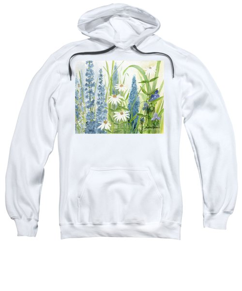 Watercolor Blue Flowers Sweatshirt