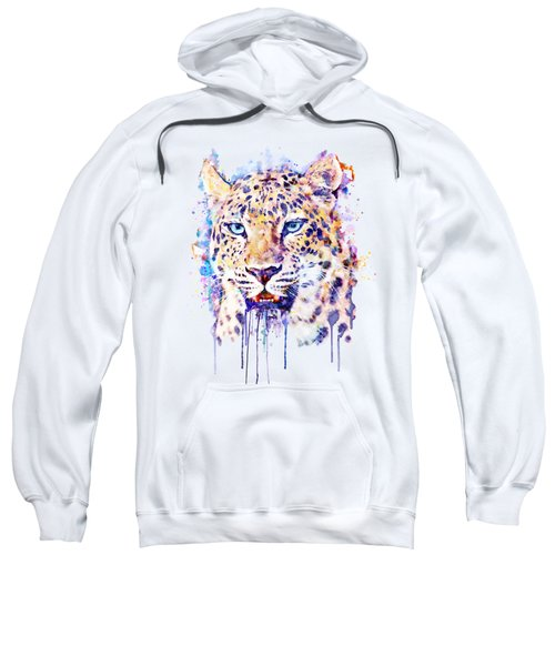 Watercolor Leopard Head Sweatshirt