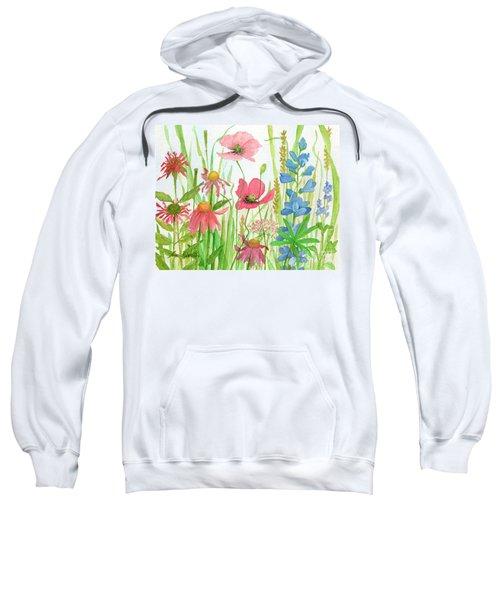 Watercolor Touch Of Blue Flowers Sweatshirt