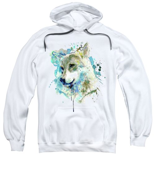 Watercolor Wolf Portrait Sweatshirt