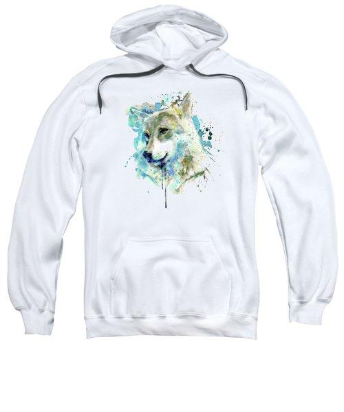 Watercolor Wolf Portrait Sweatshirt