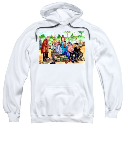When Park Benches Were Filled With People Sweatshirt