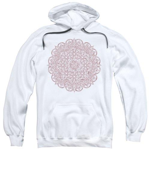 Whimsical Burgundy Mandala Sweatshirt
